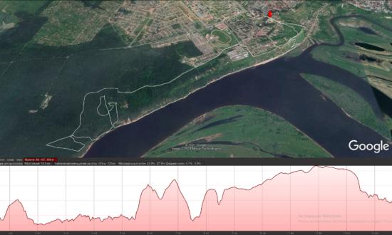 трасса трейла «Красная Горка» 15 км